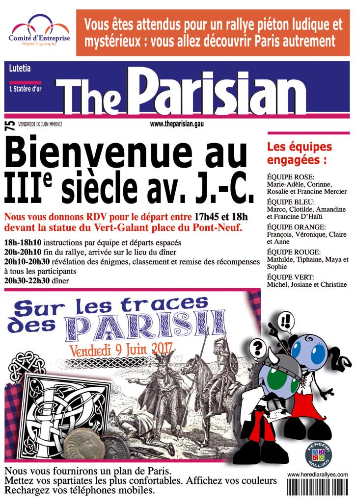 Convocation départ rallye CE Hôp. Cognacq-Jaj